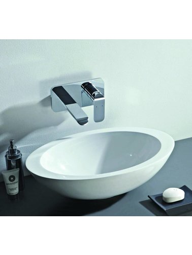Steel & Brass Ovalen set-top composite washbasin