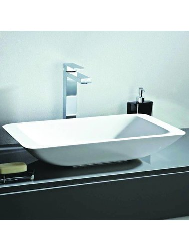 Steel & Brass Rectangle design composite sink
