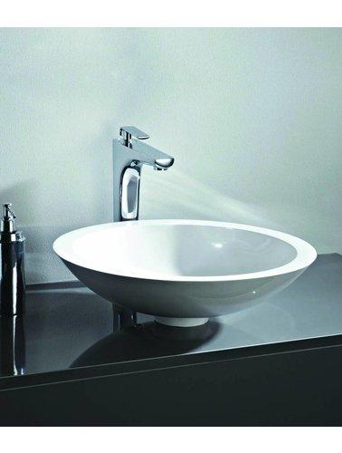 Steel & Brass Round design composite washbasin