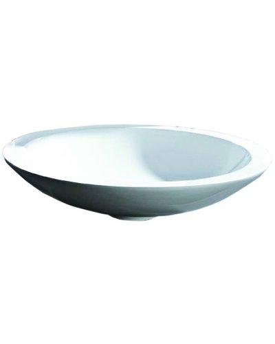 Steel & Brass Round design composite washbasin 510 mm