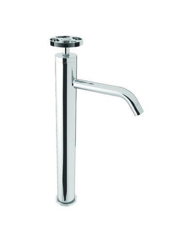 Steel & Brass Industrial 1-hole washbasin tap 186mm | 366mm