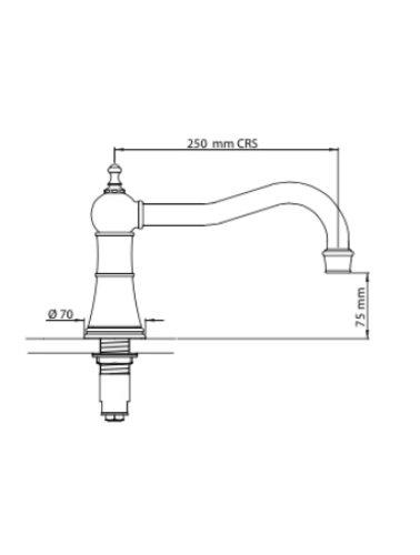 Perrin & Rowe 3-gats badmengkraan E.3757 met hendels