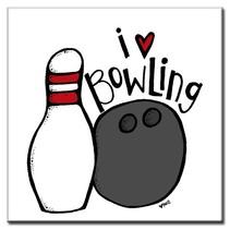 "Tegeltje ""I Love Bowling"""