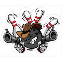 Contour Gesneden Bowling Sticker