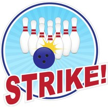 Contour Cut Bowling Sticker