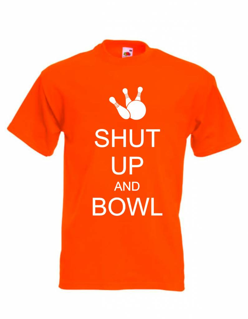 Fruit of the loom t shirt mit bowling print shut up and for Fruit of the loom t shirt printing