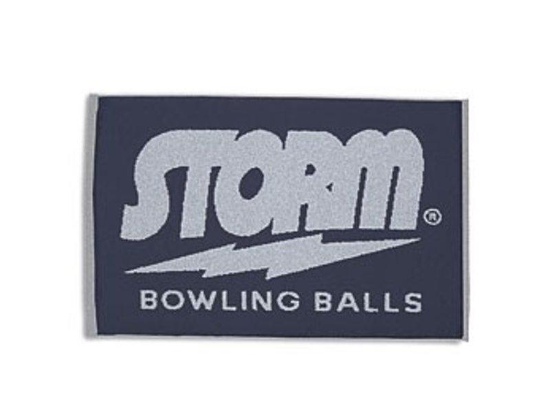 Storm Navy/Grey Woven Towel