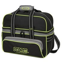 2 Ball Tote Deluxe Black/Grey/Lime