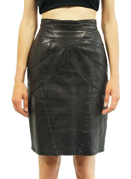 Vintage Skirts: Leather Skirts