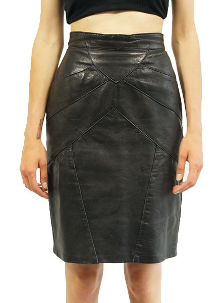 Vintage Skirts Leather Skirts Rerags Vintage Clothing