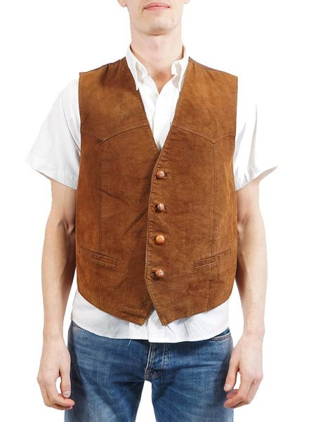 Vintage Jackets: Leather Vests Men