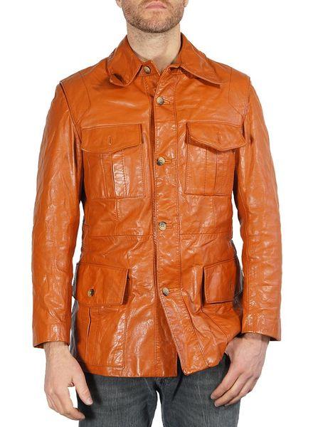 Vestes Vintage: 70's Vestes en Cuir Napa Hommes