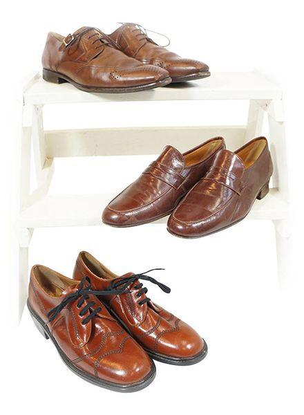 Vintage Shoes: Leather Men Shoe Mix