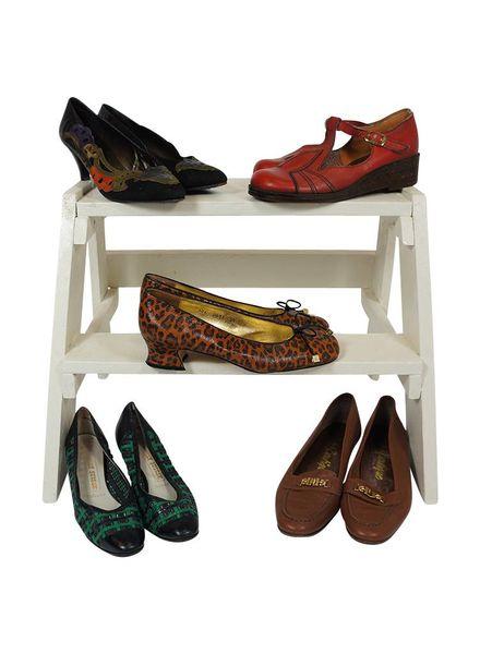 Chaussures Vintage: Chaussures en Cuir Femmes