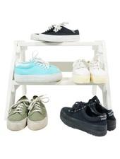 Vintage Shoes: Canvas Plateau Sneakers