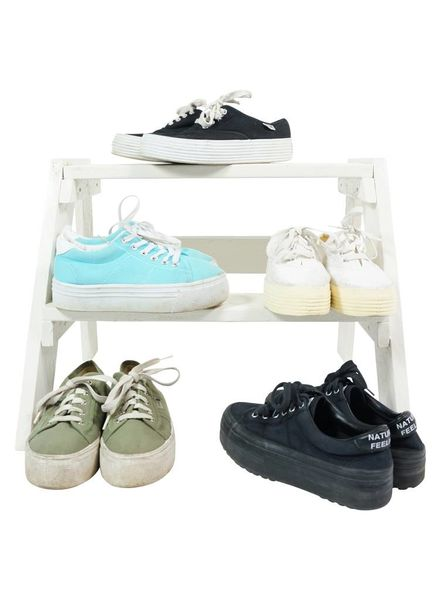 Chaussures Vintage: Sneakers Plate-Forme de Toile