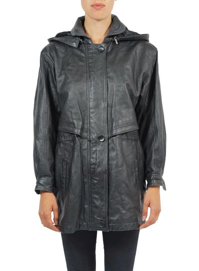 Vintage Coats: Leather / Suede Hooded Parka's Ladies