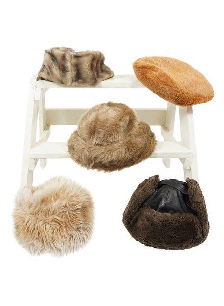 Chapeaux Vintage: Chapeaux en Fausse Fourrure - Deuxi̬me Qualit̩