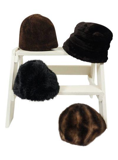 Vintage Hats: Faux Fur Hats - 2nd Choice