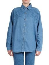 Vintage Tops: Jeans Blouse Ladies