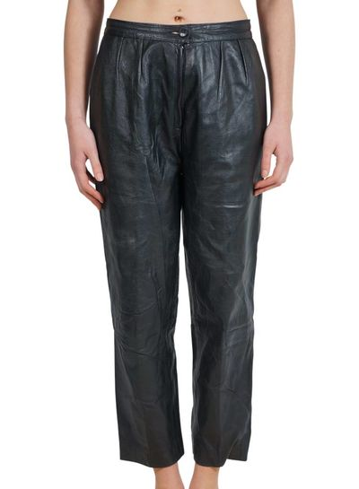 Vintage Pants: 80's Leather Pants Ladies