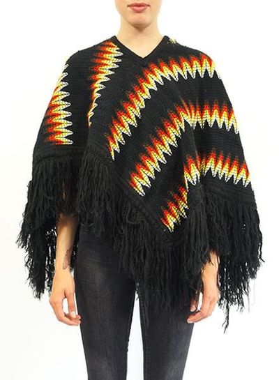 Tricot Vintage: Poncho