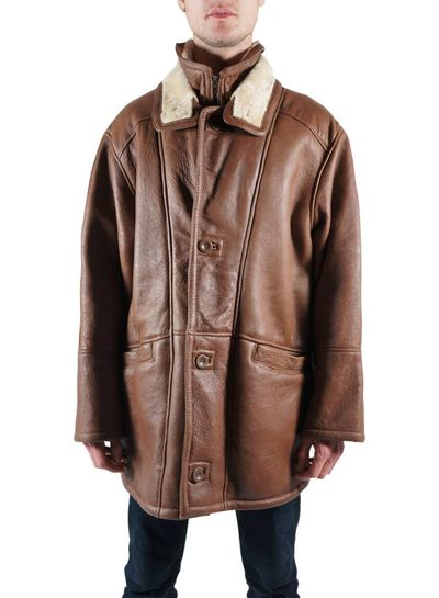 Vintage Coats: 90's Men Sheepskin Coats