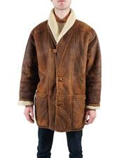 Manteaux Vintage: 90's Manteaux Peau de Mouton pour Hommes