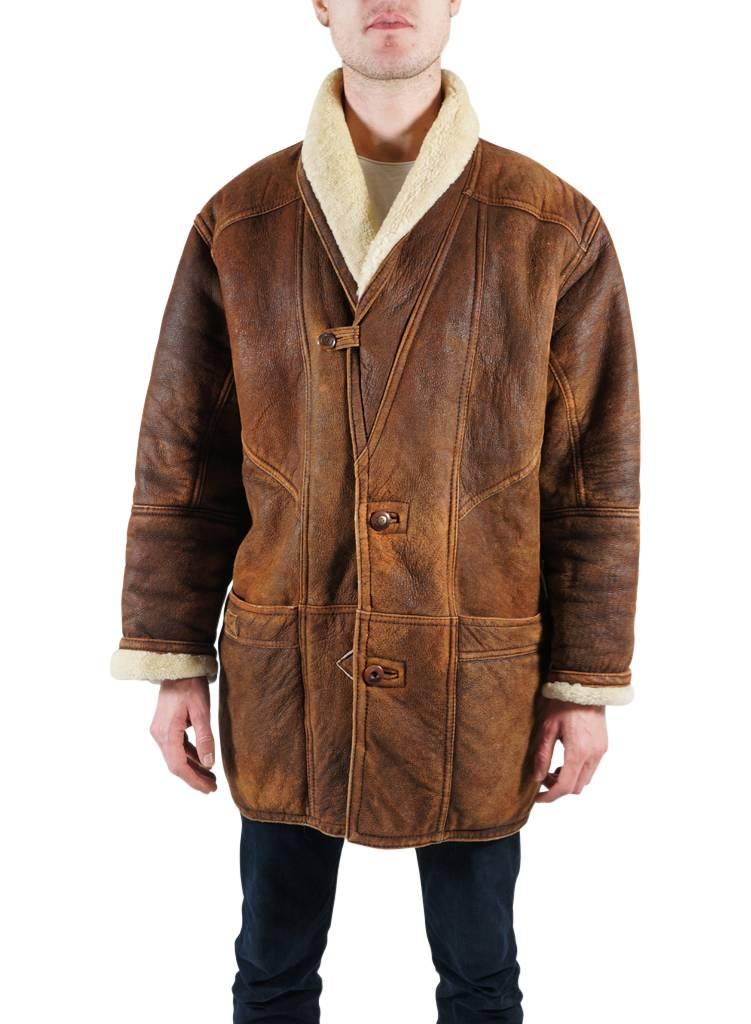 Vintage Coats 90s Men Sheepskin