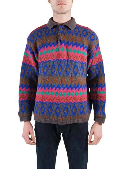 Vintage Knitwear:Coogi Style Sweater