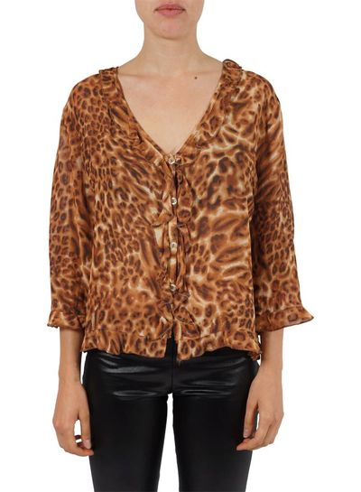 Vintage Tops: Animal Print Blouses