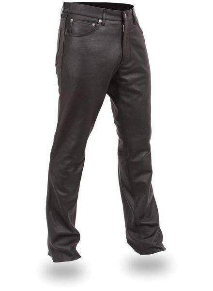 Pantalons Vintage: Pantalons en Cuir Cinq Poches