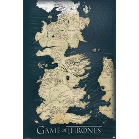 Game Of Thrones Map - Maxi Poster