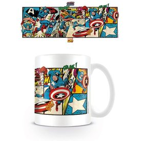 Marvel Retro Captain America Panels - Mug