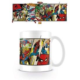 Marvel Retro Spiderman Panels - Mug