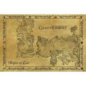 Game Of Thrones Antique Map - Poster