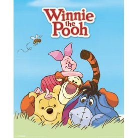 Winnie The Pooh characters - Mini Poster