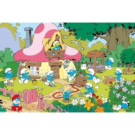 The Smurfs Garden - Maxi  Poster