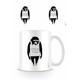 Laugh Now Banksy - Mug