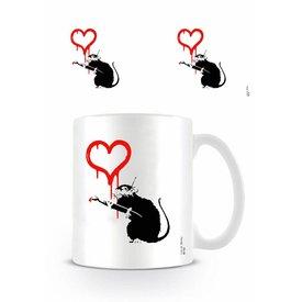 Love Rat Banksy - Mok