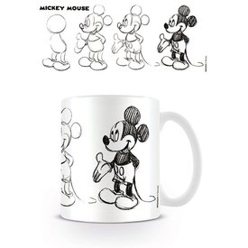 Mickey Mouse Sketch Process - Mug
