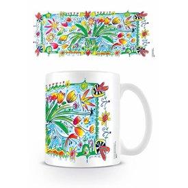 Guus Van Eck Flower in Vase - Mug
