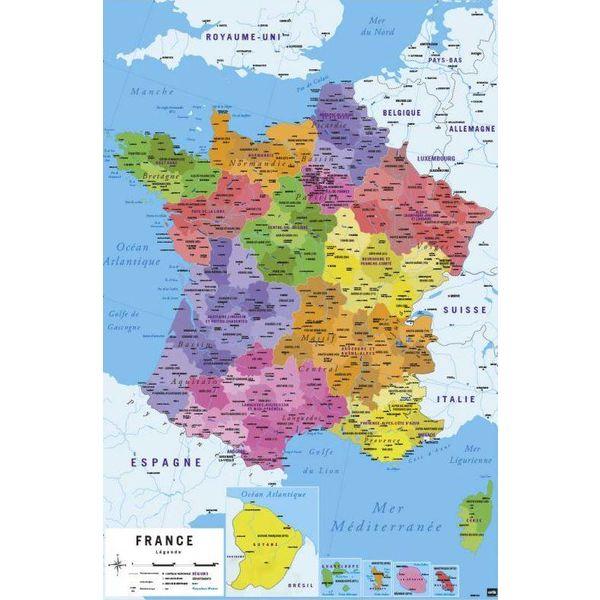 Carte de france nouvelles regions maxi poster hole in the wall carte de france nouvelles regions maxi poster gumiabroncs Images