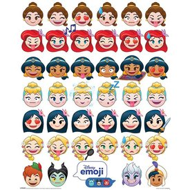 Disney Emoji Princess Emotions - Mini Poster