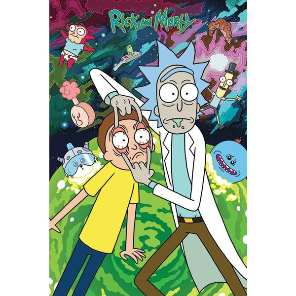 Rick And Morty Watch Maxi Poster Hole In The Wall Hole
