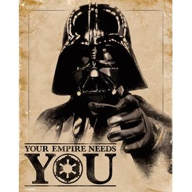 Star Wars Classic Your Empire Needs You - Mini Poster