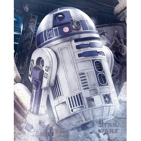 Star Wars The Last Jedi R2-D2 Droid - Mini Poster
