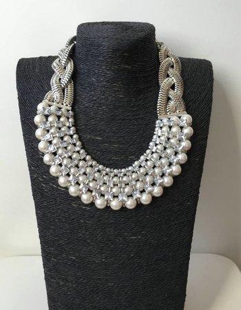 Silber perlen mit stein
