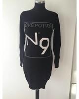 Pullover mit Strasssteinen Schwarz