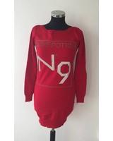 Pullover mit Strasssteinen Rot